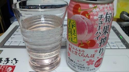 アサヒ旬果搾り 春限定缶発売 香りふんわり桃とさくらんぼ