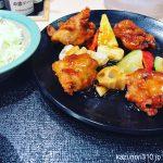 #鶏モモとごろごろ野菜の甘酢あん定食 #松のや
