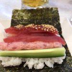 #トリプル鮪手巻き寿司 #かっぱ寿司 マグロが噛み切れない