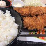 #ロースかつ #ささみかつ1枚 #ささみかつ増量2枚定食 #松のや さすがにボリューム多かった。うまうま。